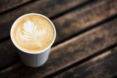 Kopp kaffe bästa sikt royaltyfri fotografi