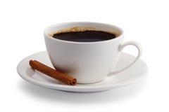 Kopp kaffe med kanel Arkivbild