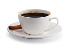 Kopp kaffe med kanel Arkivfoton