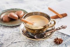 Kopp kaffe och godisar Royaltyfria Foton
