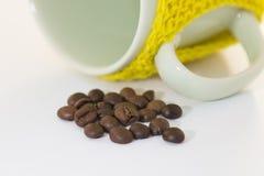 Kopp kaffe och hjortar Arkivbild
