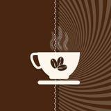 Kopp kaffe- och Sunburstbakgrund Royaltyfria Bilder