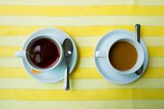 Kopp kaffe och te Arkivfoton