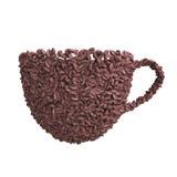 Kopp kaffebönor Royaltyfri Illustrationer