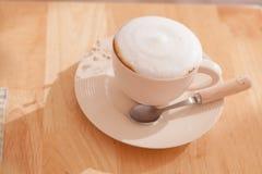 Kopp kaffecappuccinokonst Royaltyfri Fotografi