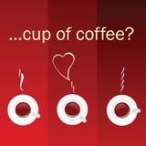 Kopp kaffefärgvektor Arkivfoto