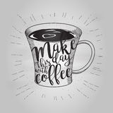 Kopp kaffeklotter Arkivbild