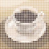 Kopp kaffemosaik Arkivfoto