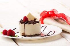 Kopp-kaka med hallonet Arkivbilder