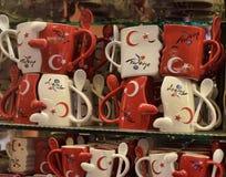 Kopp med symboler av Turkiet Arkivbilder