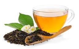 Kopp med te, blomma av jasmin royaltyfri foto