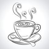 Kopp (råna), av den varma drinken (kaffe, te etc. Arkivbild