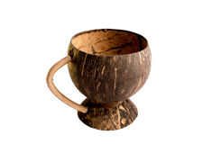 Kopp som göras från kokosnötskal Royaltyfri Bild