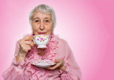 kopp som tycker om den höga teakvinnan Arkivbilder