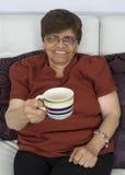 kopp som tycker om den höga teakvinnan Royaltyfria Foton