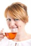 kopp som tycker om teakvinnan Royaltyfria Bilder