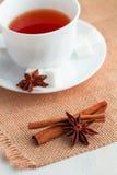Kopp te med teskeden Royaltyfri Fotografi