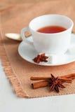 Kopp te med teskeden Royaltyfria Foton