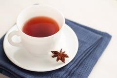 Kopp te med teskeden Royaltyfri Foto