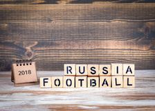 Kopp 2018 värld, fotboll för mästerskap för Ryssland fotboll Arkivfoto