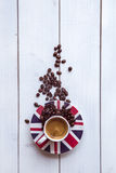 Koppar av espresso Royaltyfri Foto