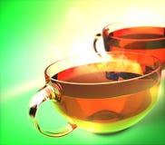 Koppar av grönt te Arkivfoto