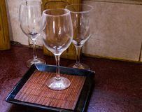 Koppar av vin fotografering för bildbyråer