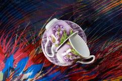 Koppar kaffe för ett par Fotografering för Bildbyråer