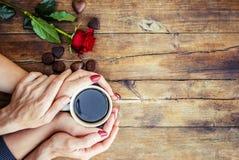Koppar med ett kaffe Royaltyfri Fotografi