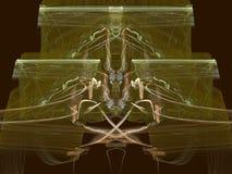Koppar på guld vektor illustrationer