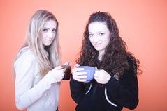 koppar som rymmer kvinnor fotografering för bildbyråer