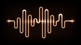 Kopparbakgrund för vågabstrakt begreppvektor Royaltyfri Fotografi