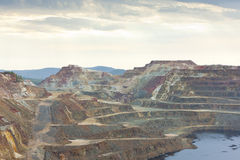 kopparde minas bryter riotinto Arkivfoto