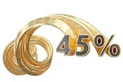 Koppargråa procentsatser på en vit bakgrund illustration 3d royaltyfri illustrationer