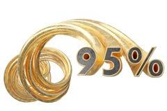 Koppargråa procentsatser på en vit bakgrund illustration 3d stock illustrationer