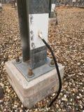 Kopparjorda en kontakt kabel Royaltyfri Foto