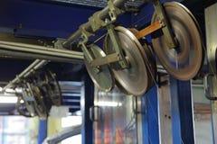 Kopparkabelfabrik mekanism Royaltyfria Bilder