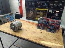 Koppeling van een motor in drie stadia stock foto