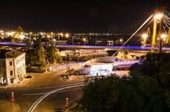Koppeln Sie in Odessa, Lichter von Odessa-Stadt an lizenzfreie stockbilder