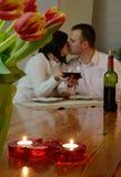 Koppelt het vieren liefde Royalty-vrije Stock Foto's