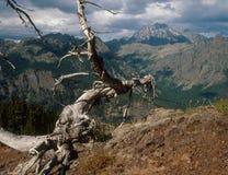 从Koppen山的斯图尔特范围,高山湖地区,喀斯喀特山脉,华盛顿 免版税库存图片