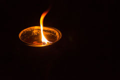 Koppen av stearinljuset Royaltyfri Bild