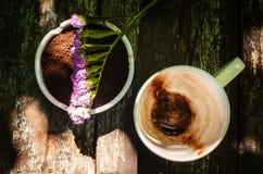 Koppen av varm choklad mjölkar Fotografering för Bildbyråer