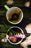 Koppen av varm choklad mjölkar Royaltyfria Bilder