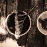 Koppen av varm choklad mjölkar Arkivbild