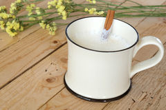 Koppen av vitt nytt mjölkar Royaltyfri Foto