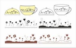 Koppen en patronen voor koppen Stock Afbeeldingen