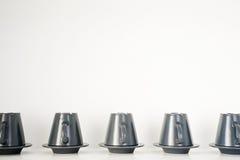 Koppen en schotels Royalty-vrije Stock Afbeelding