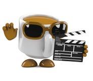 koppen för 3d Coffe gör en film Royaltyfri Foto