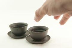 koppen ger mig tea Royaltyfria Bilder